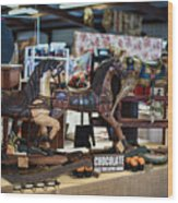 Antique Show Three Horses Wood Print