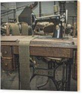 antique Singer Wood Print