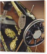 Antique Singer Sewing Machine 3 Wood Print