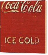 Antique Soda Cooler 6 Wood Print