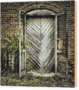 Antique Store Door Wood Print