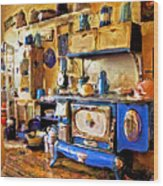 Antique Store Kitchen Wood Print