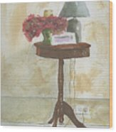 Antique Table Wood Print