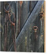 Antique Tools Wood Print