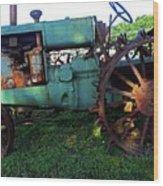 Antique Tractor 1 Wood Print
