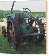 Antique Tractor 2 Wood Print
