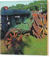 Antique Tractor 3 Wood Print