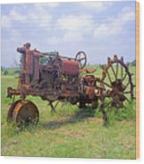 Antique Tractor  Wood Print