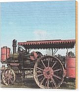 Antique Tractor - Rollag, Minnesota Wood Print