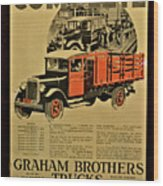 Antique Truck Poster Wood Print