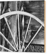 Antique Wagon Wheel Wood Print