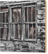Antique Windows Wood Print