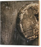 Antique Wine Barrel Cork Wood Print