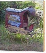 Antique Wine Wagon Wood Print