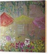 Antoinette's Flowers Wood Print