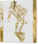Antonio Brown Pittsburgh Steelers Water Color Art 4 Wood Print