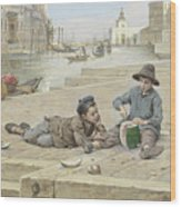 Antonio Ermolao Paoletti The Melon Sellers Wood Print
