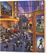 Ants At The Movie Theatre Wood Print
