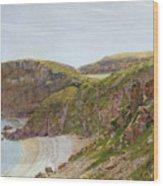 Antsey's Cove South Devon Wood Print