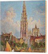 Antwerp Wood Print