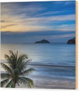 Ao Manao Bay Wood Print by Adrian Evans