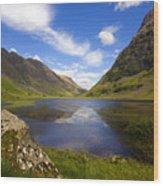 Aonach Eagach Ridge Glencoe Wood Print