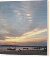 Aonang Sunset Wood Print