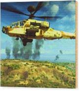 Apache Ai Assault - Operation Desert Wolves Wood Print