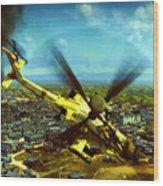 Apache Ai Assault - Operation Osama Wood Print