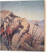 Apache Ambush Wood Print