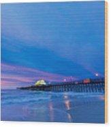 Apache Pier At Sunrise Wood Print