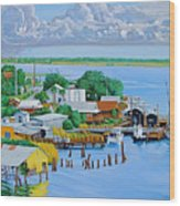 Apalachicola Waterfront Wood Print