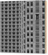 Apartment Buildings As Seen From 59th Street Wood Print