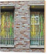 Apartment Window Wood Print