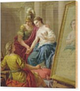 Apelles In Love With The Mistress Of Alexander Wood Print
