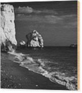 Aphrodites Rock Petra Tou Romiou Republic Of Cyprus Wood Print by Joe Fox
