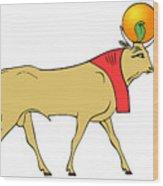 Apis - Egyptian Sacred Bull Wood Print