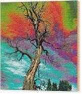 Apocalypse Tree Wood Print