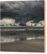 Apocalyptic Clouds Over The Atlantic Wood Print