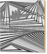 Apocalyptic Ringside View Wood Print