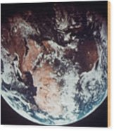 Apollo 11: Earth Wood Print