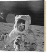 Apollo 12 Moonwalk Wood Print