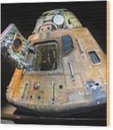 Apollo 14 Command Module Kitty Hawk Wood Print
