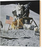Apollo 15: Jim Irwin, 1971 Wood Print