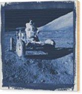 Apollo 17 Lunar Rover - Nasa Wood Print