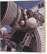 Apollo Rocket Engine Wood Print