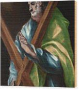Apostle Saint Andrew Wood Print