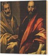 Apostles Peter And Paul 1592 Wood Print