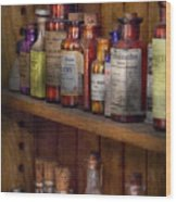 Apothecary - Inside The Medicine Cabinet  Wood Print