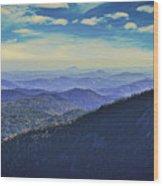 Appalachia Blue Wood Print